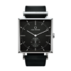 Square Granit Black Deluxe Watch with Black Leather Strap by Carl Edmond