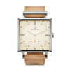 Square Granit Cameo Watch with Natural Leather Strap by Carl Edmond