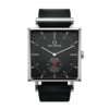 Square Granit Limed Spruce Watch with Black Leather Strap by Carl Edmond