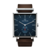 Square Granit Navy Blazer watch with Dark Brown Leather Strap by Carl Edmond