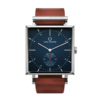 Square Granit Navy Blazer watch with Burgundy Leather Strap by Carl Edmond