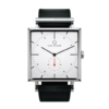 Square Granit White Watch with Black Strap by Carl Edmond
