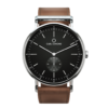 Carl Edmond - Ryolit Black Deluxe, 40mm - Cognac Strap